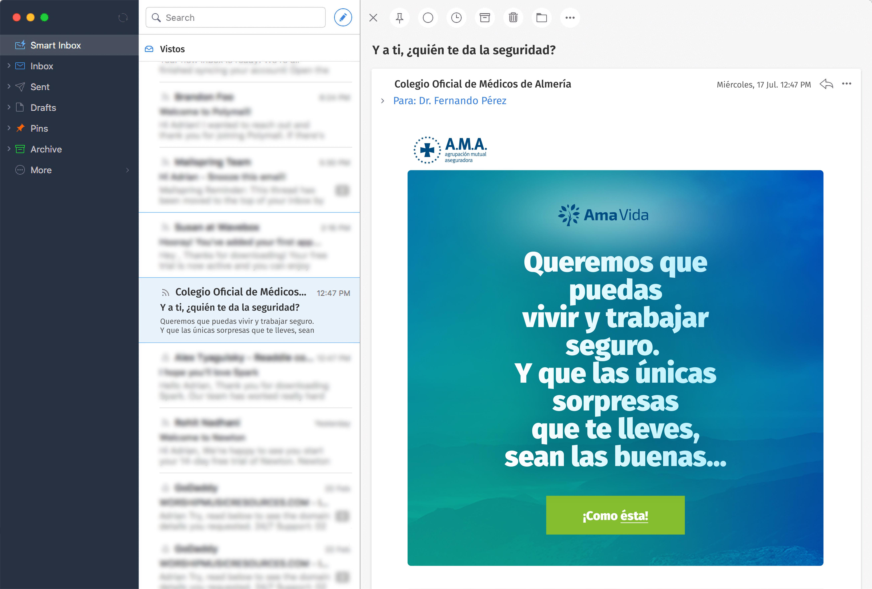 Email Teaser - Campaña AMA Vida